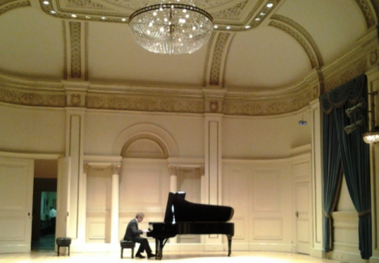 Pianist/composer James Behr at Weill Hall, NY