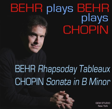 Behr Plays Behr Plays Chopin CD, classical
