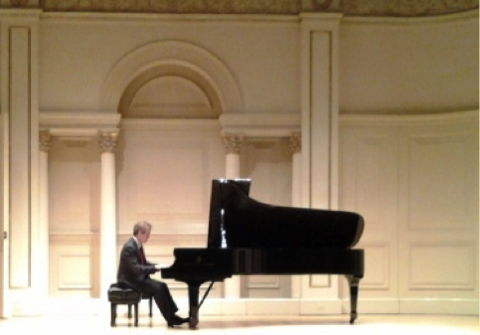 Pianist James Behr at Carnegie Hall